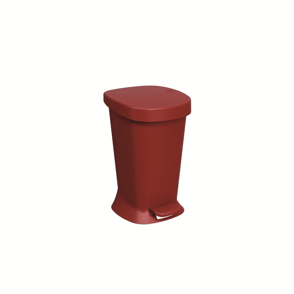 Lixeira com Pedal Quadrada Plastico 50L Vermelho bold - Coza