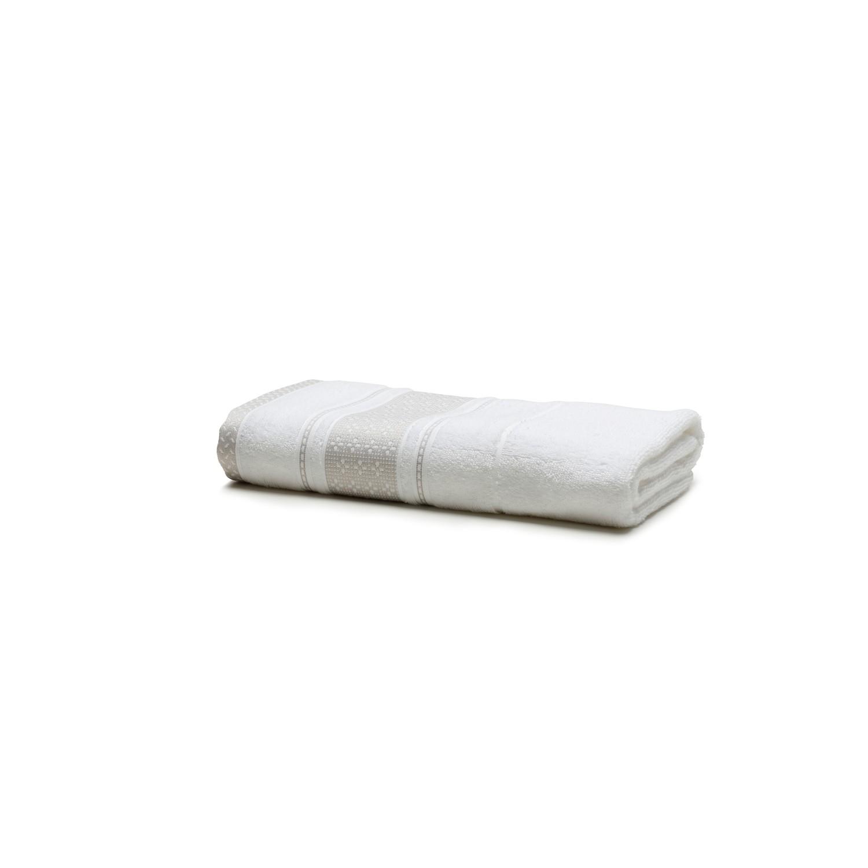 Toalha de Banho Total Mix Malva 100 Algodao 70 x 135 cm Branco - Artex