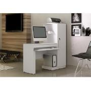 Mesa para Computador MDP Branco Fosco 137 cm - Valdemóveis
