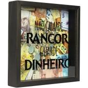 Quadro Decorativo Porta-dinheiro 20x20 cm Não Guarde Rancor 803/4 - Art Frame