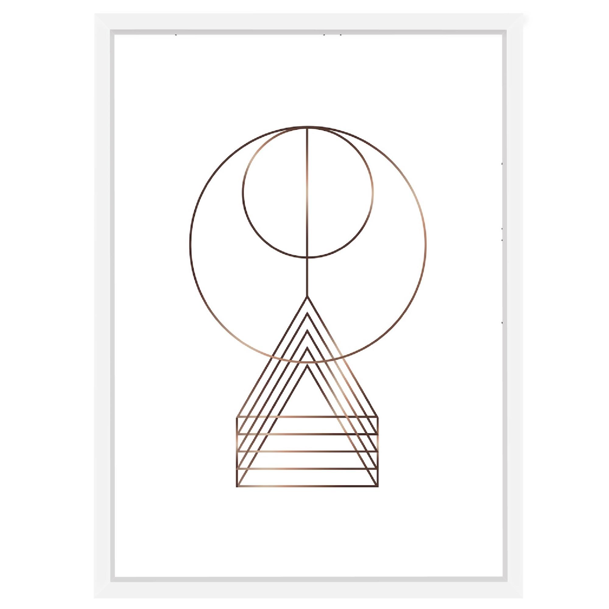 Quadro Decorativo 73x53 cm Geometrico Branco 540925 - Euroquadros