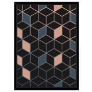 Quadro Decorativo 73x53 cm Geométrico Preto 541137 - Euroquadros