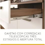 Kit Cozinha Smart 4 Portas e 3 Gavetas 120cm Branco - Nesher