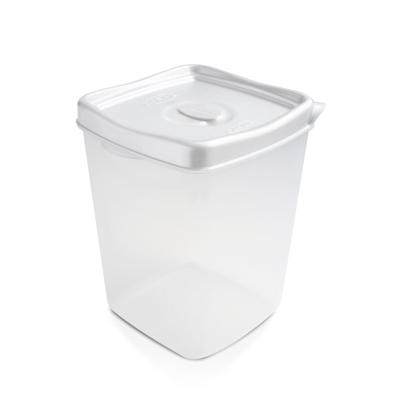 Pote Plastico Hermetico Quadrado 2300L 144x156 cm Branco - Plasvale