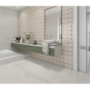 Porcelanato Mármore Bianco 58x58cm 2,03 m²  Bege - PPO58130R - Tecnogres