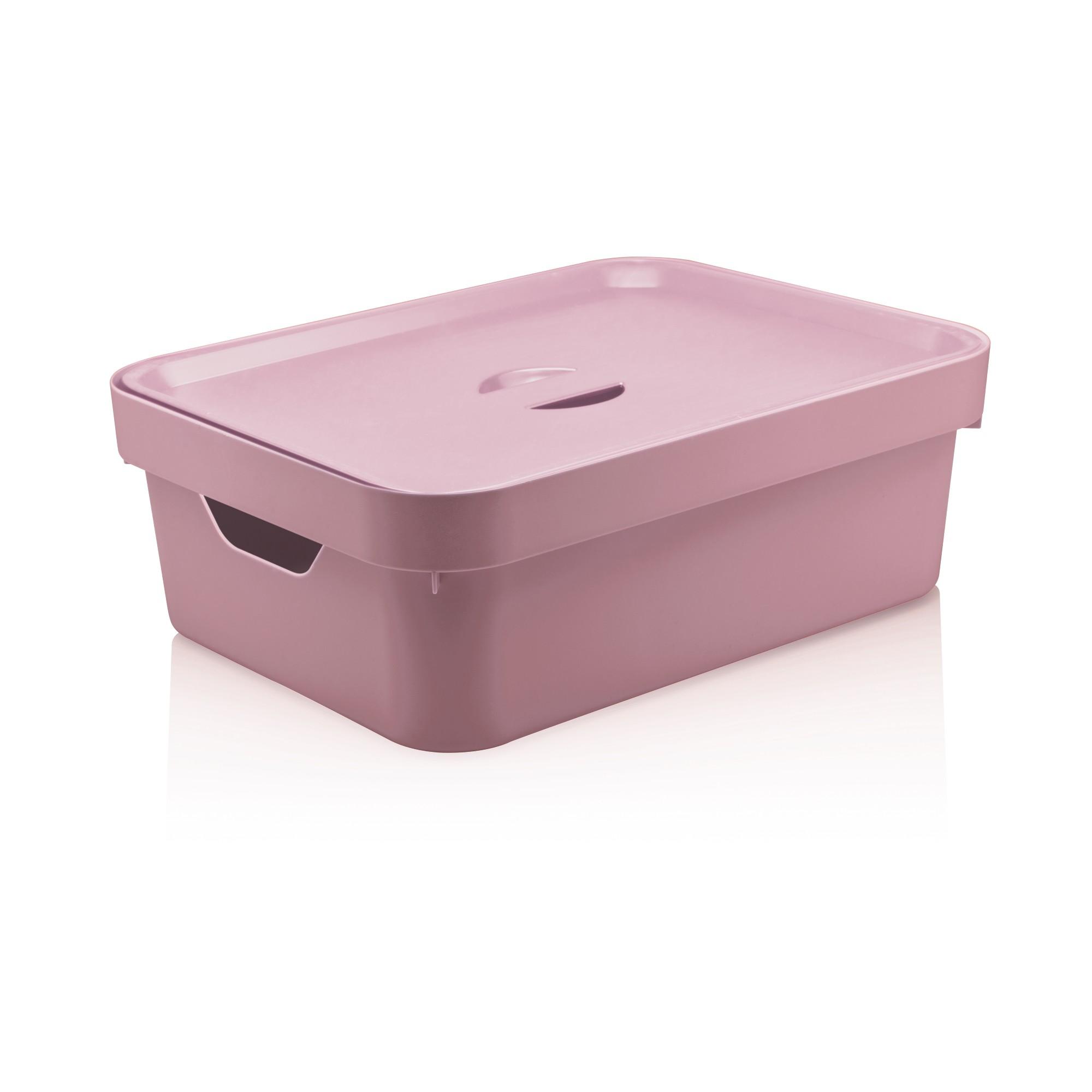 Caixa Organizadora Cube M com Tampa Rosa quartz - Ou