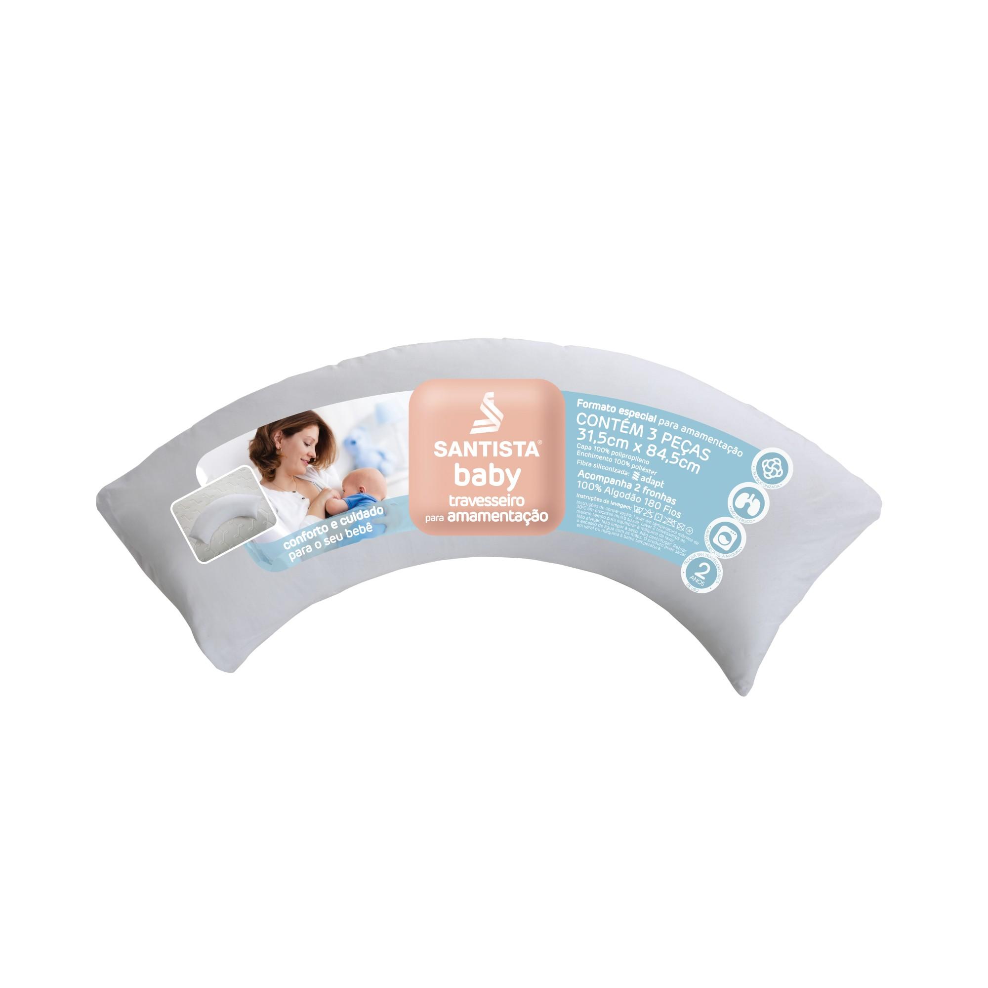 Travesseiro para Amamentacao Baby Branco - Santista