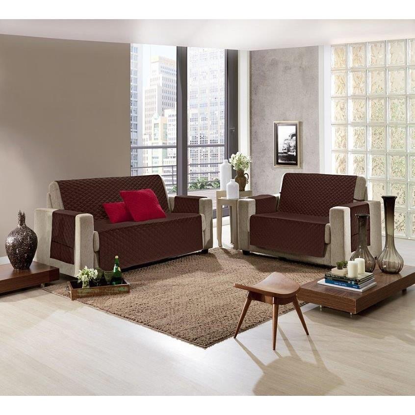 Protetor para Sofa 2 Lugares Microfibra Pop 210x145 cm Cacau - Hedrons