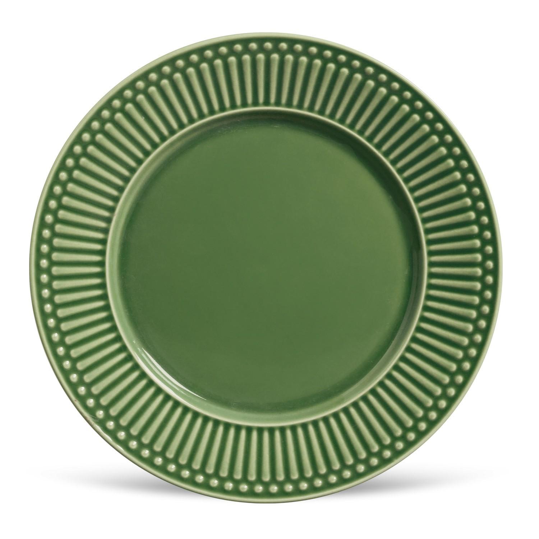 Prato Raso em Ceramica Roma 26cm Salvia - Porto Brasil