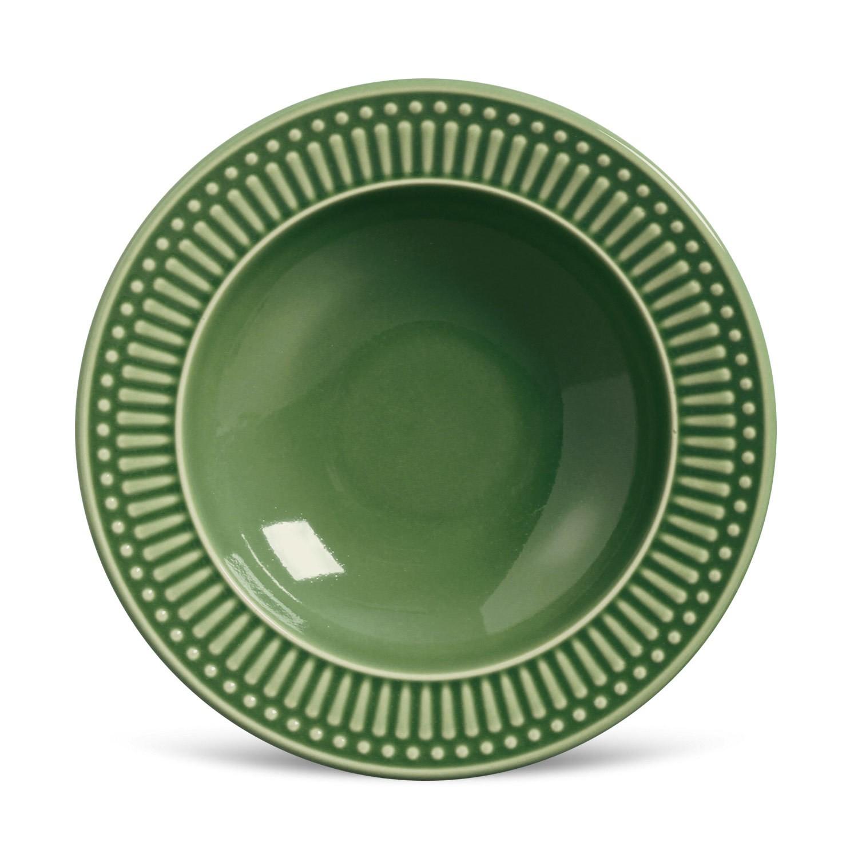 Prato Fundo em Ceramica Roma 22cm Salvia - 330133 - Porto Brasil
