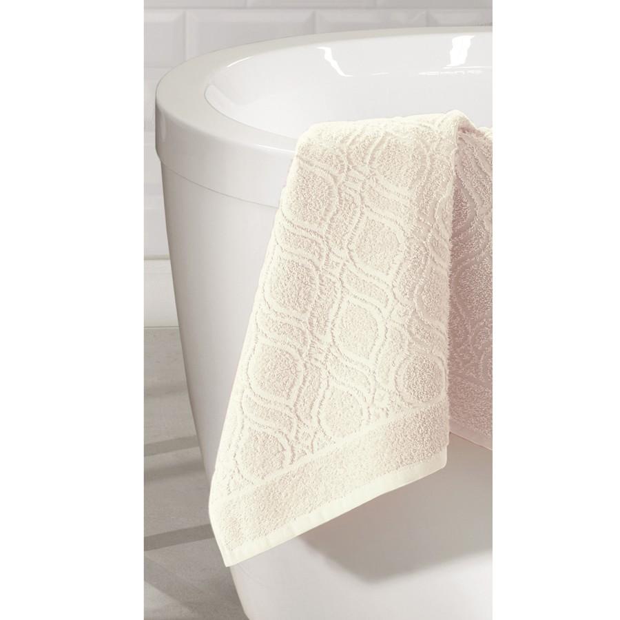 Toalha de Rosto Elegance 100 Algodao Jacquard 50 x 70cm Marfim - 6367 - Dohler