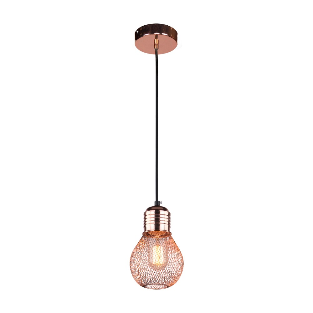 Pendente Metal Nino 1 Lampada 12cm - Bella Iluminacao