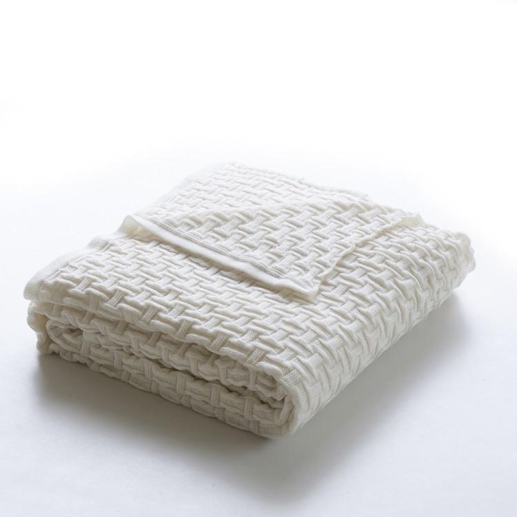 Manta para Sofa Pamela 120x160 cm Off White 157889 - Decor Trico