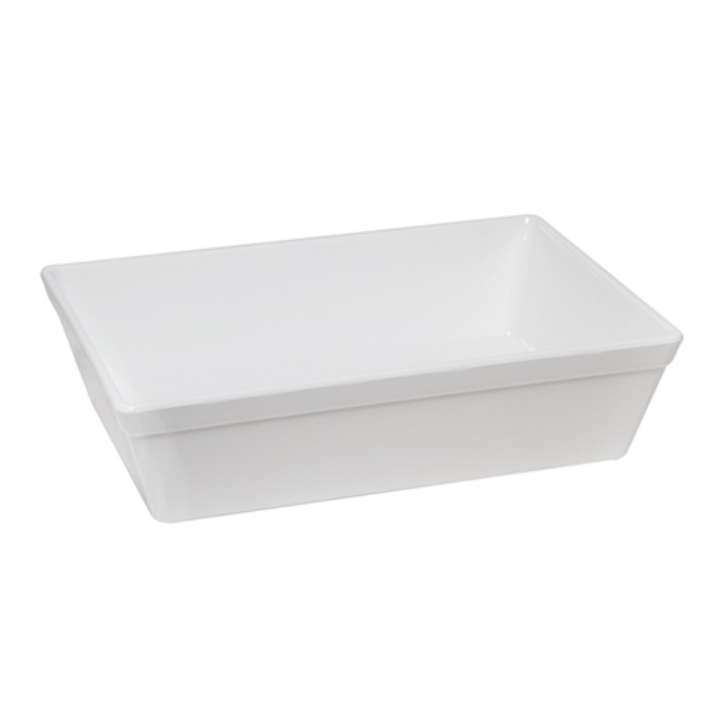 Travessa de Plastico 25cm Branca - Vem Plast