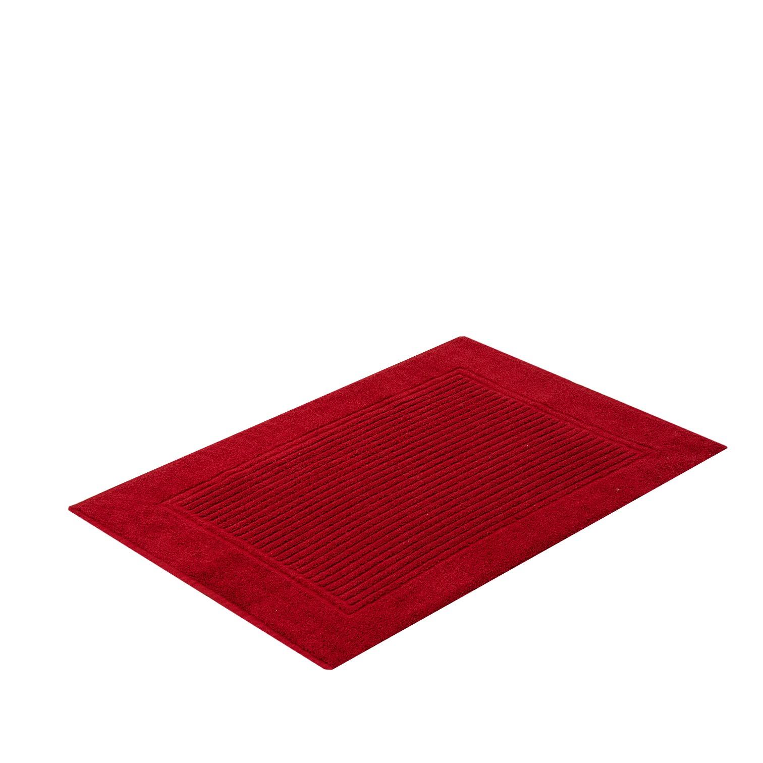 Toalha de Piso 48 x 70 cm 100 algodao Vermelho - Buddemeyer