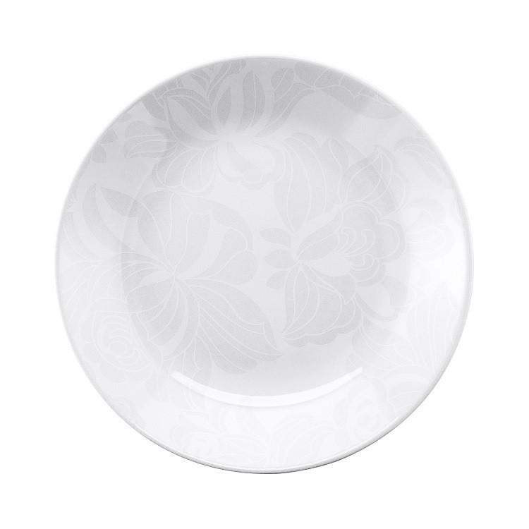 Prato Fundo Redondo em Porcelana Blanc Branco 24cm - Oxford