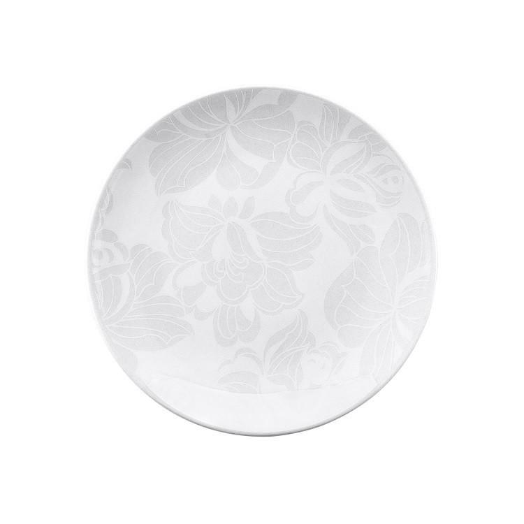 Prato de Sobremesa Redondo em Porcelana Blanc Branco 21cm - Oxford