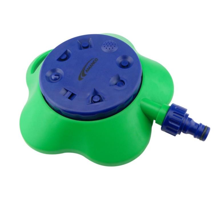 Aspersor Movel Plastico de Base 8 Jatos Verde 98637 - Amanco