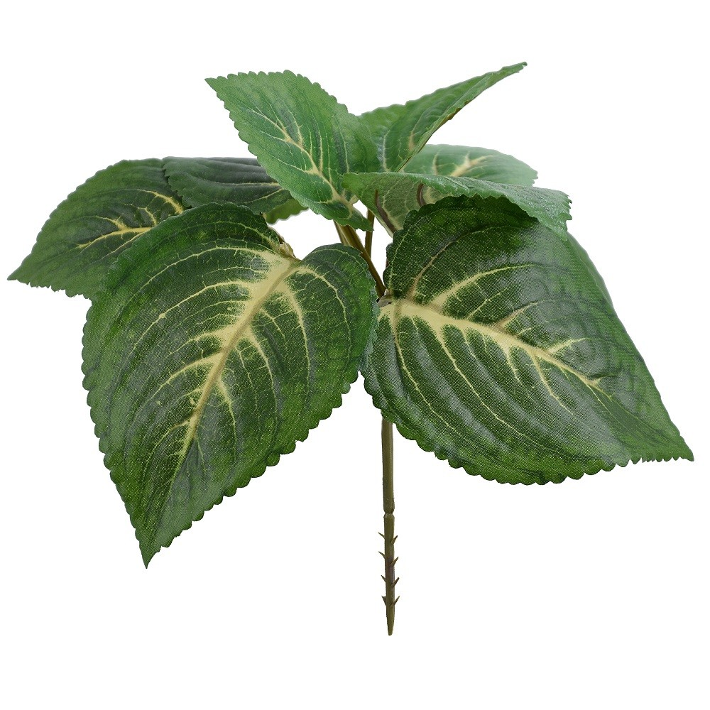 Buque de Folhagem Artifical 20cm Coleus Forracao Verde - Dea