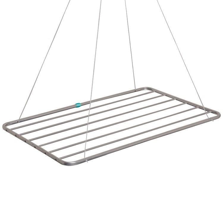 Varal de Teto de Aluminio 6 Hastes 90x56cm Prata - Mor