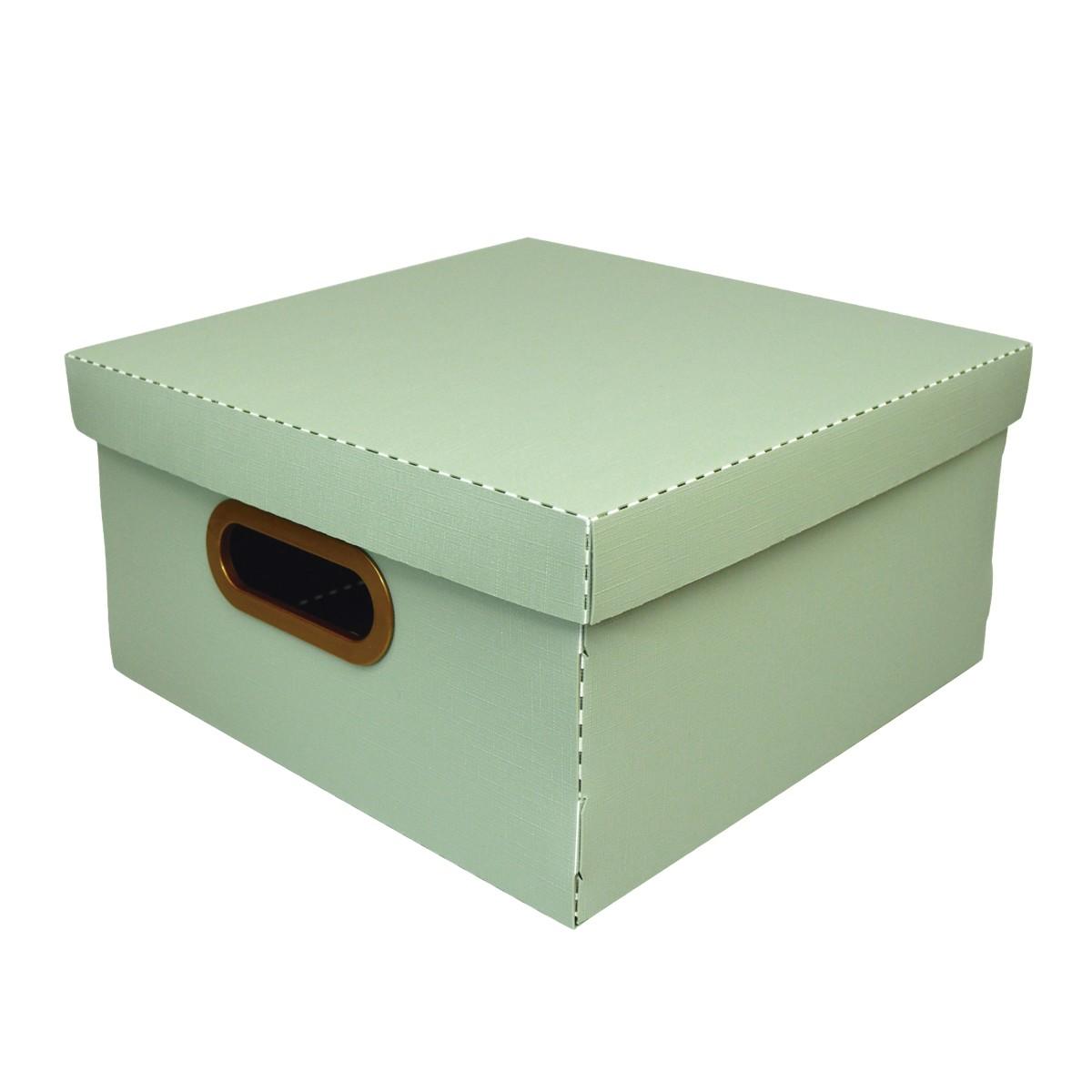 Caixa Organizadora 29x29cm Verde 2205 - Protea