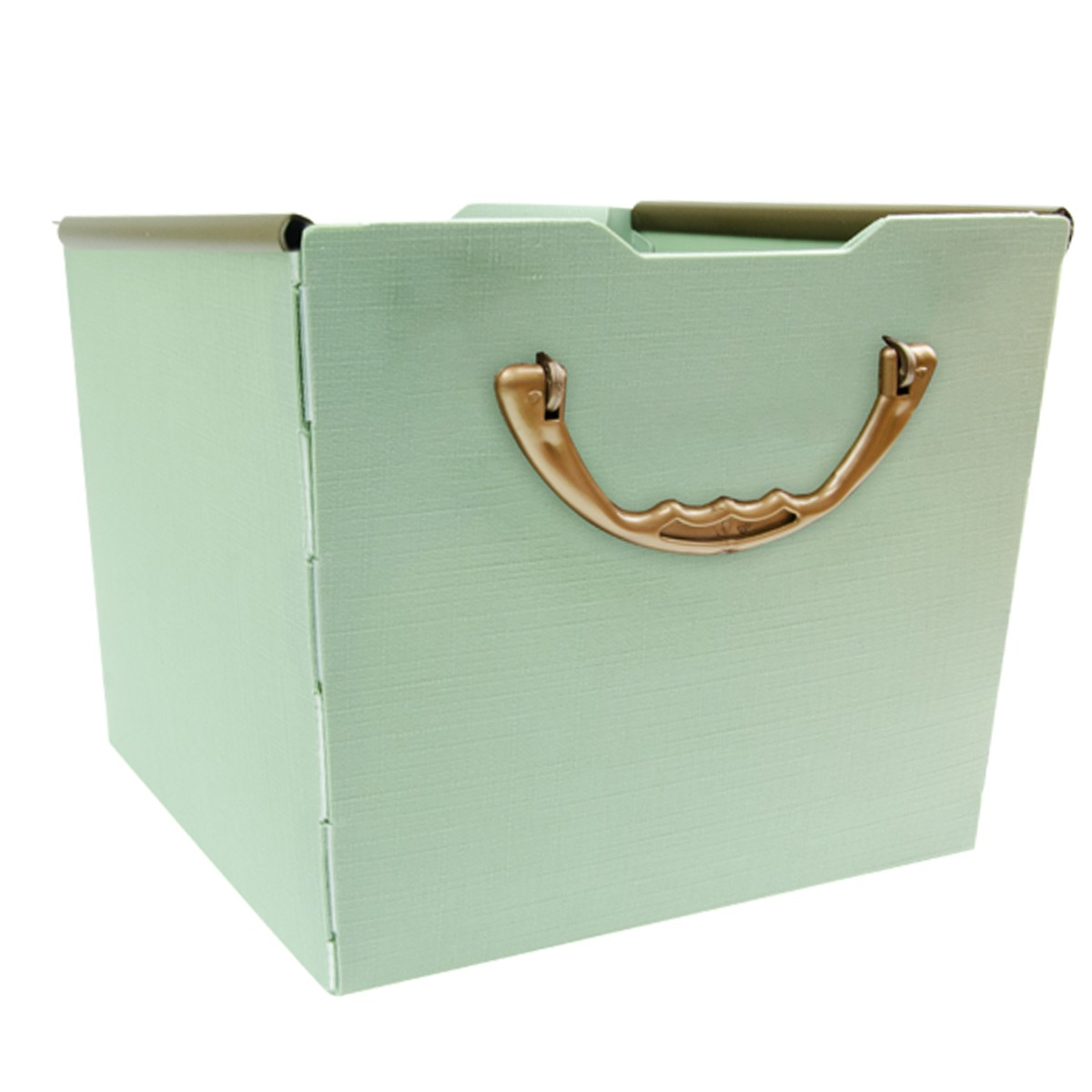 Cesta Organizadora de Plastico 225x225cm Quadrada Empilhavel Verde - Protea