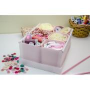 Caixa Organizadora com 6 Divisórias Rosa 2193 - Dello