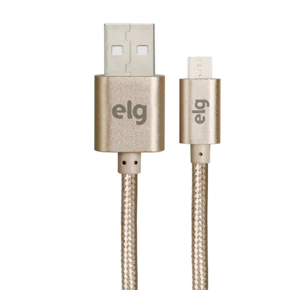 Cabo Micro-USB 10M Dourado Nylon- M510Bg - ELG
