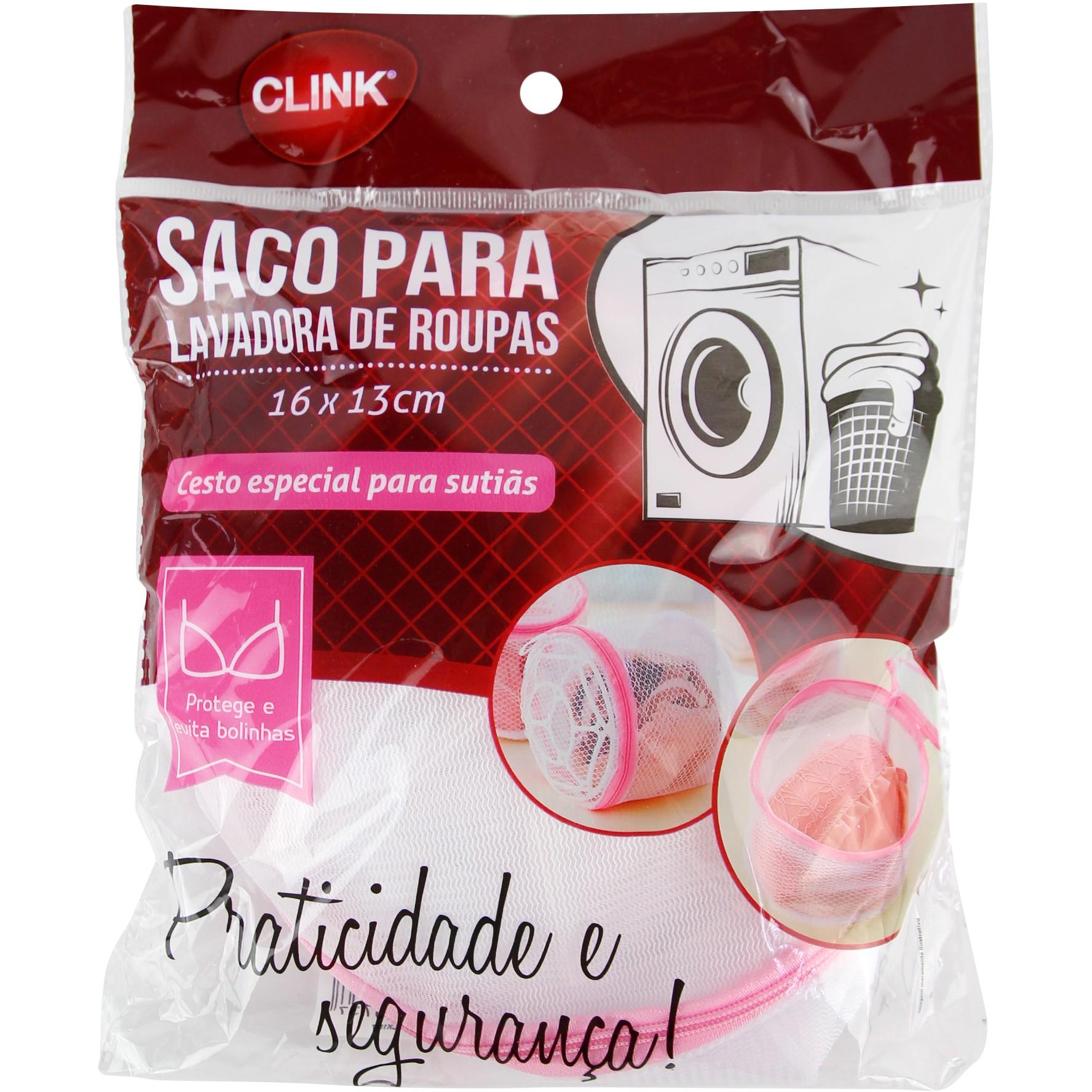 Saco para Maquina de Lavar Roupas 16x13cm - Clink