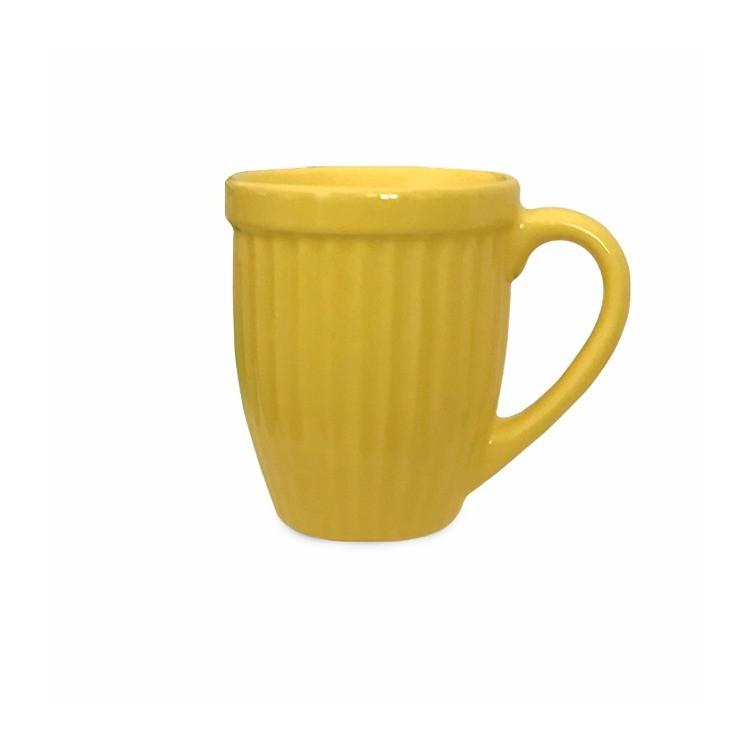 Caneca de Ceramica 400ml Amarela 351K - Ceramica Regina