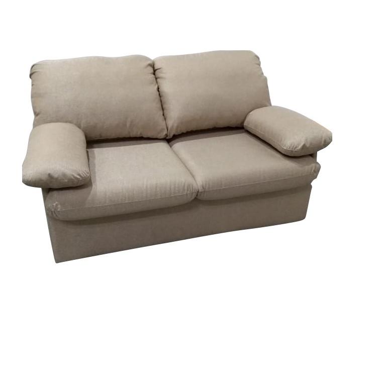 Sofa Cama 2 Lugares Bembolado Encosto Fixo Linho Bege - Herval