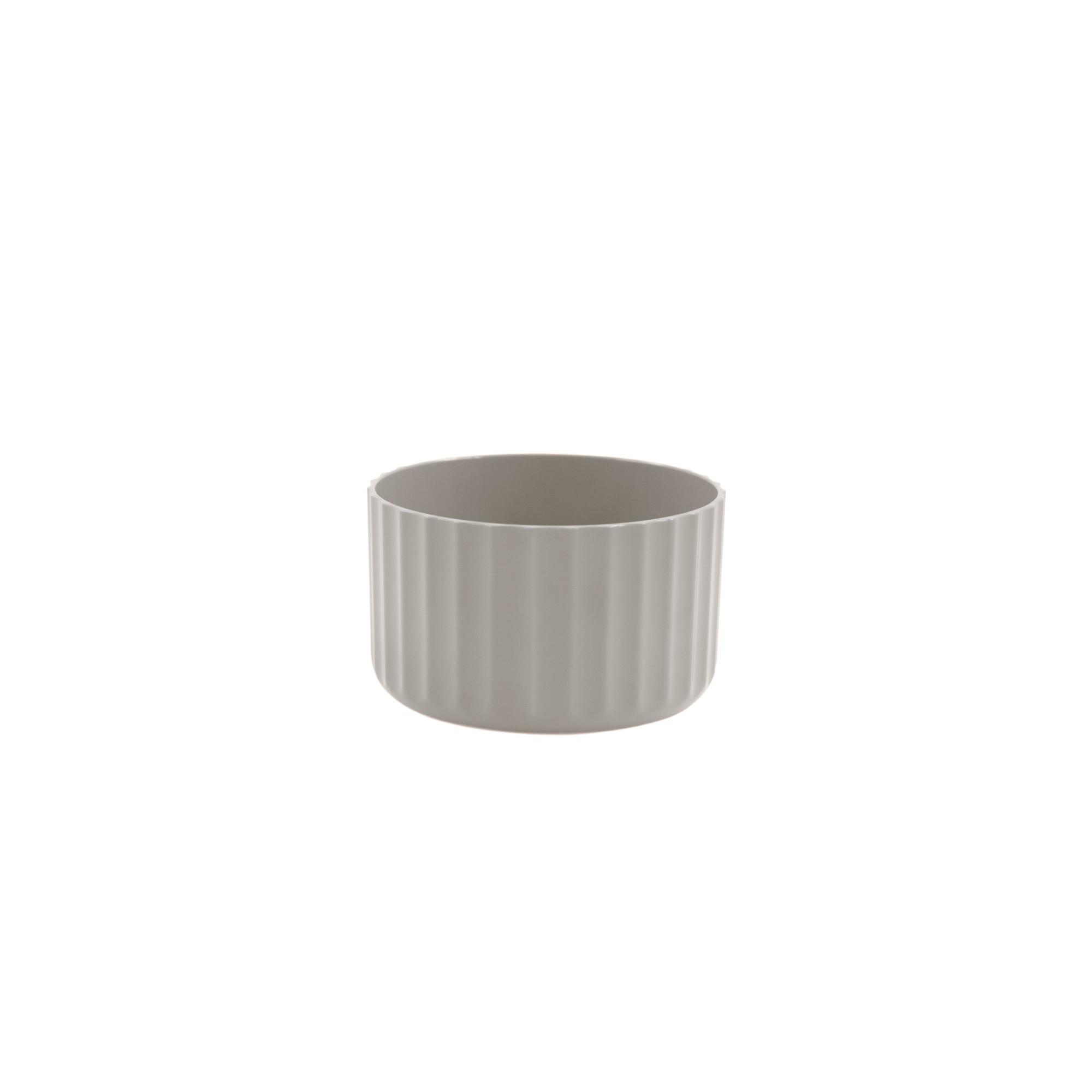 Vaso para Plantas Plastico 6x996 cm Groove Mini Bege - Ou