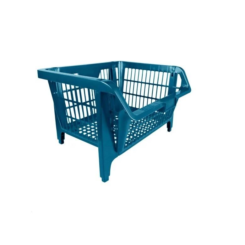 Cesto Expositor Pratico Azul 57x28x42 cm - Azul