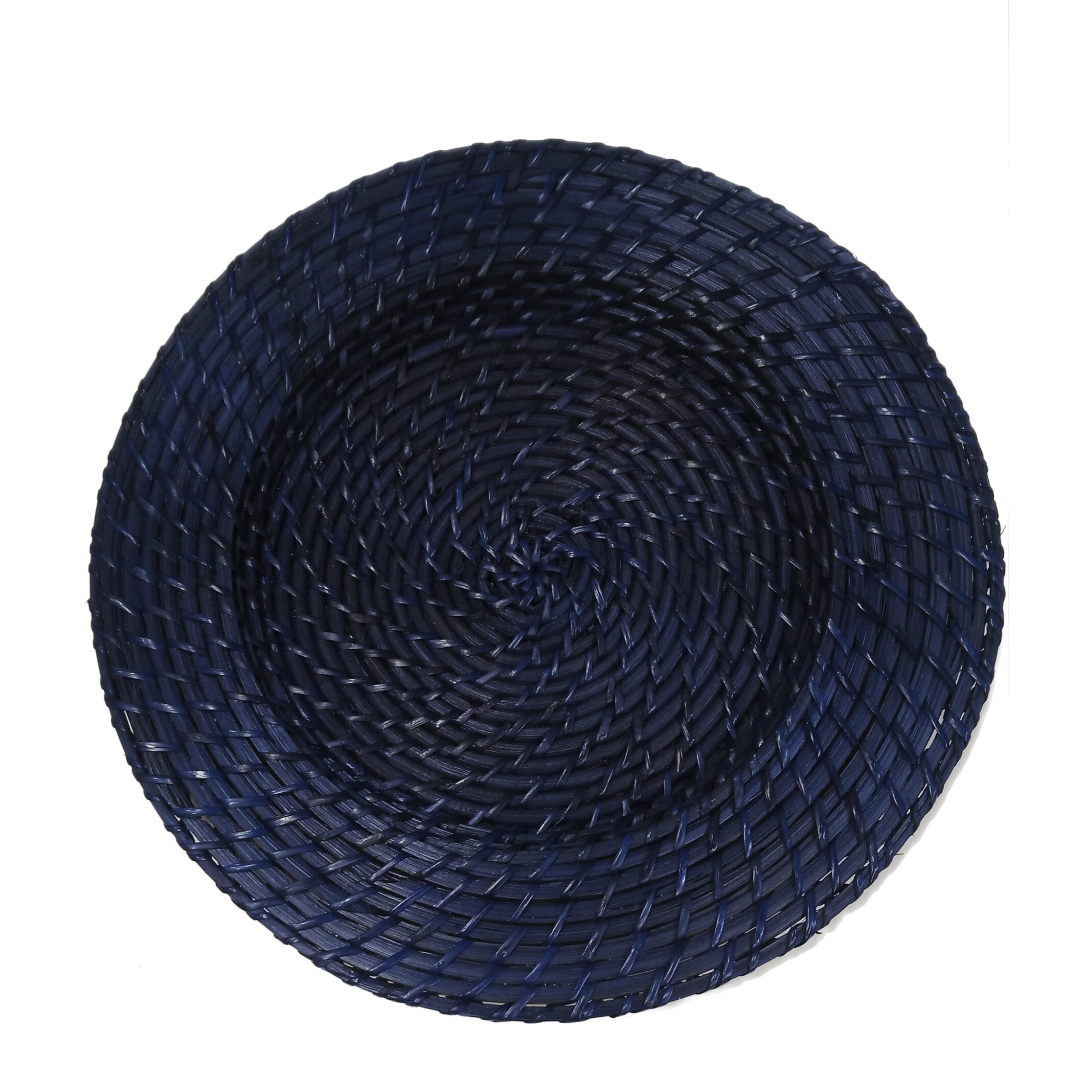 Sousplat Redondo Rattan 32cm Azul Escuro - Casambiente