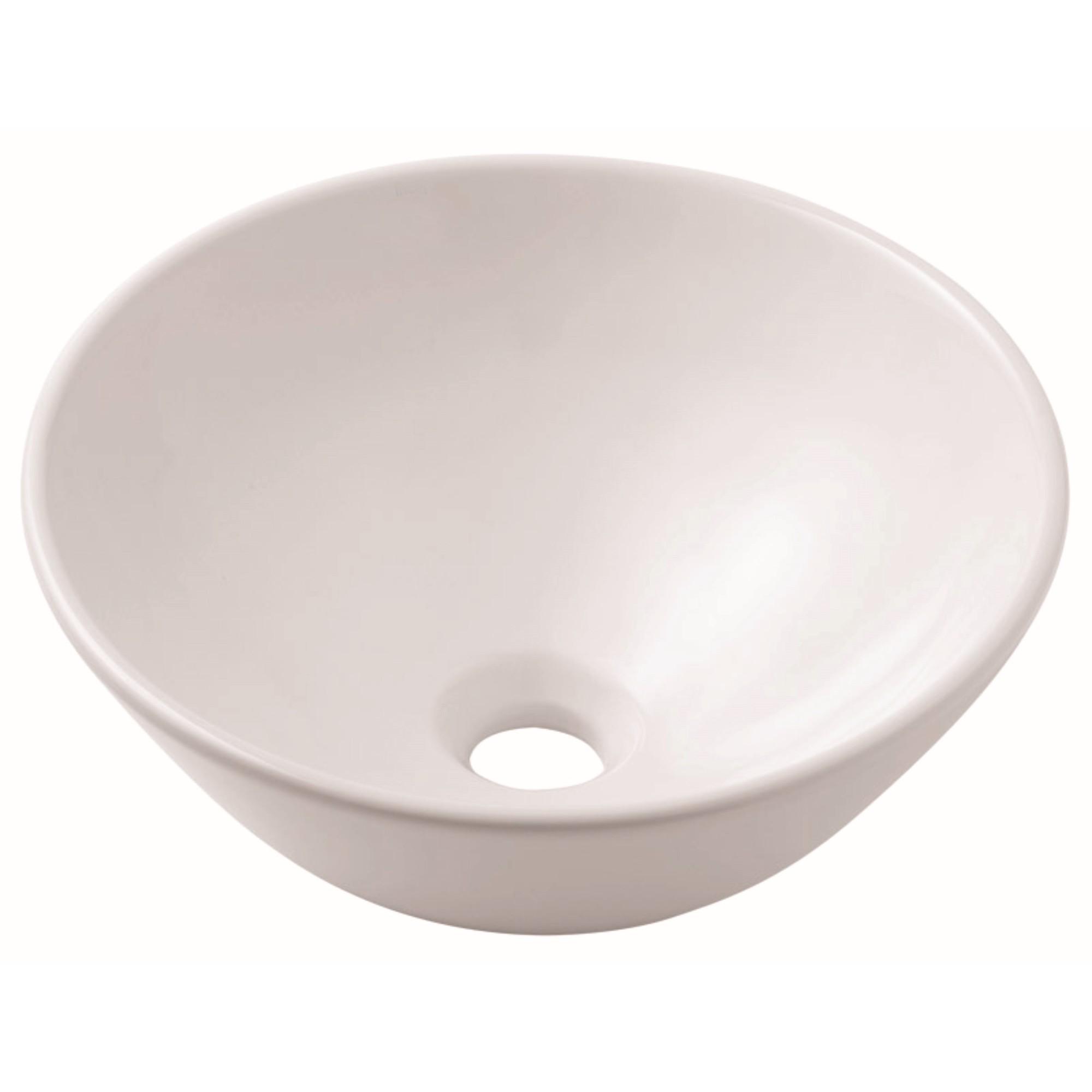 Cuba de Louca de Apoio Redondo 35x35 cm Basic Branco Matte - Celite