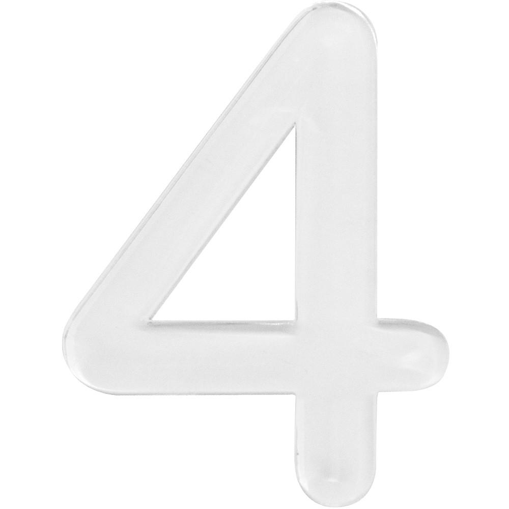 Numero 4 Acrilico Branco - Acrilico Design