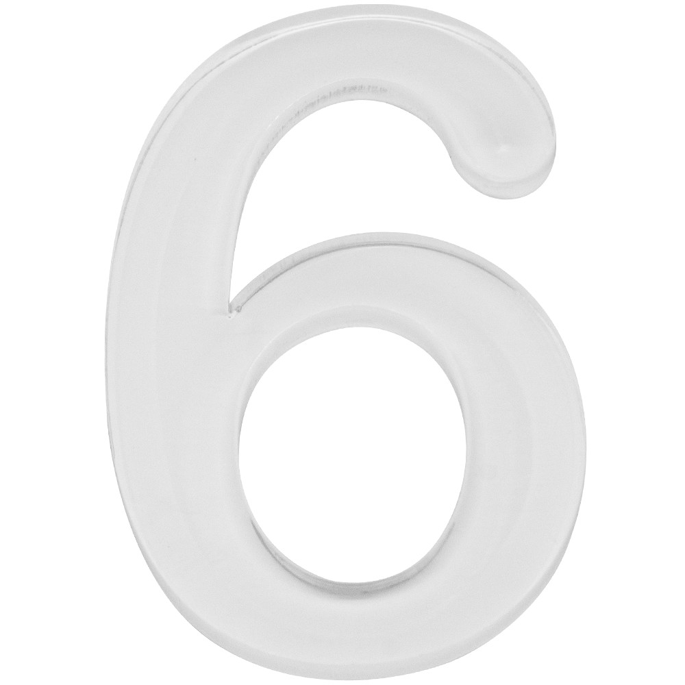 Numero 6 Acrilico Branco - Acrilico Design