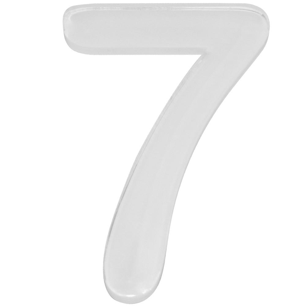 Numero 7 Acrilico Branco - Acrilico Design