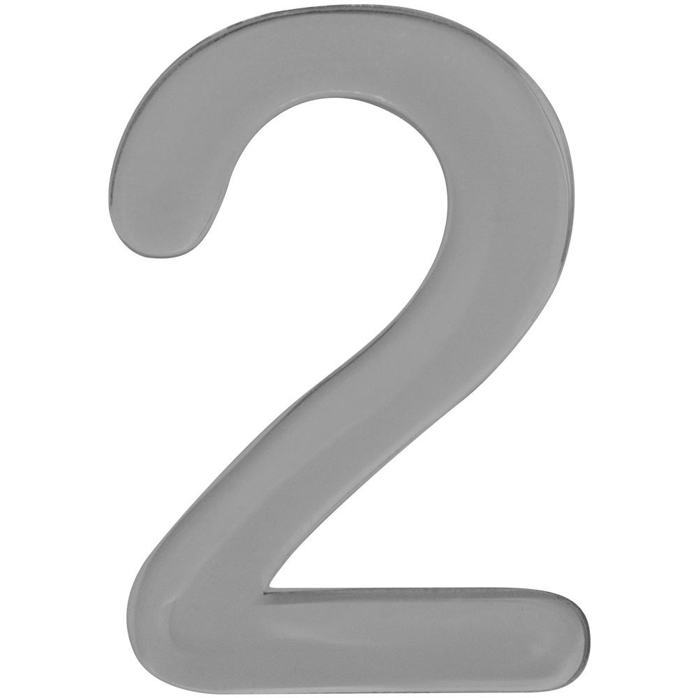 Numero 2 Acrilico Cinza - Acrilico Design