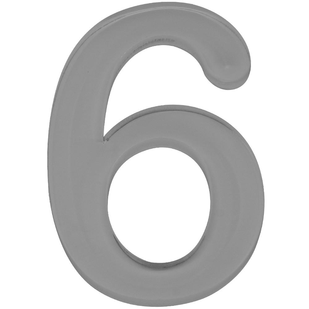 Numero 6 Acrilico Cinza - Acrilico Design