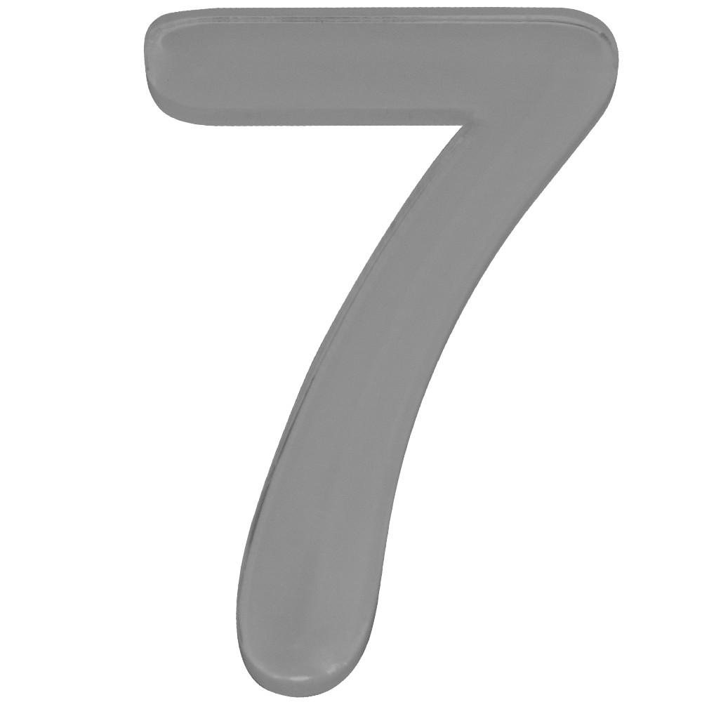 Numero 7 Acrilico Cinza - Acrilico Design