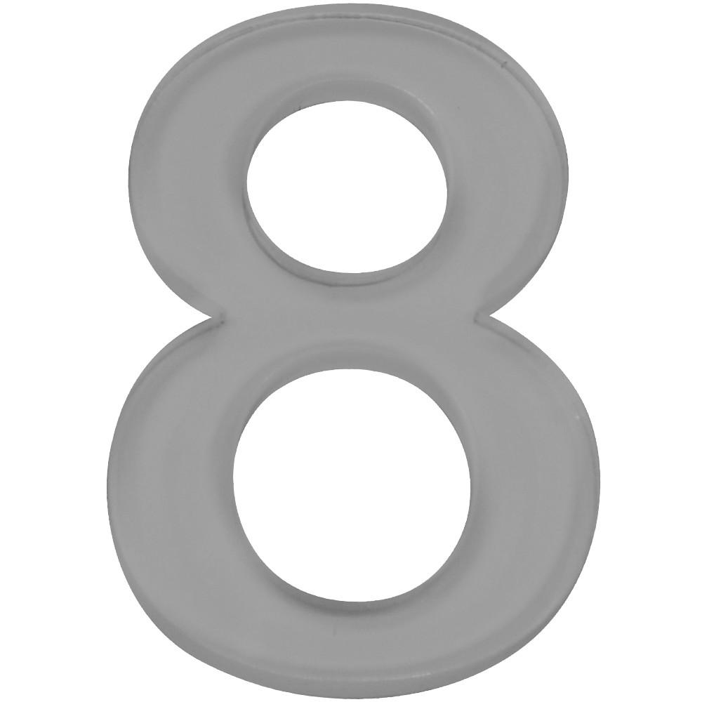 Numero 8 Acrilico Cinza - Acrilico Design