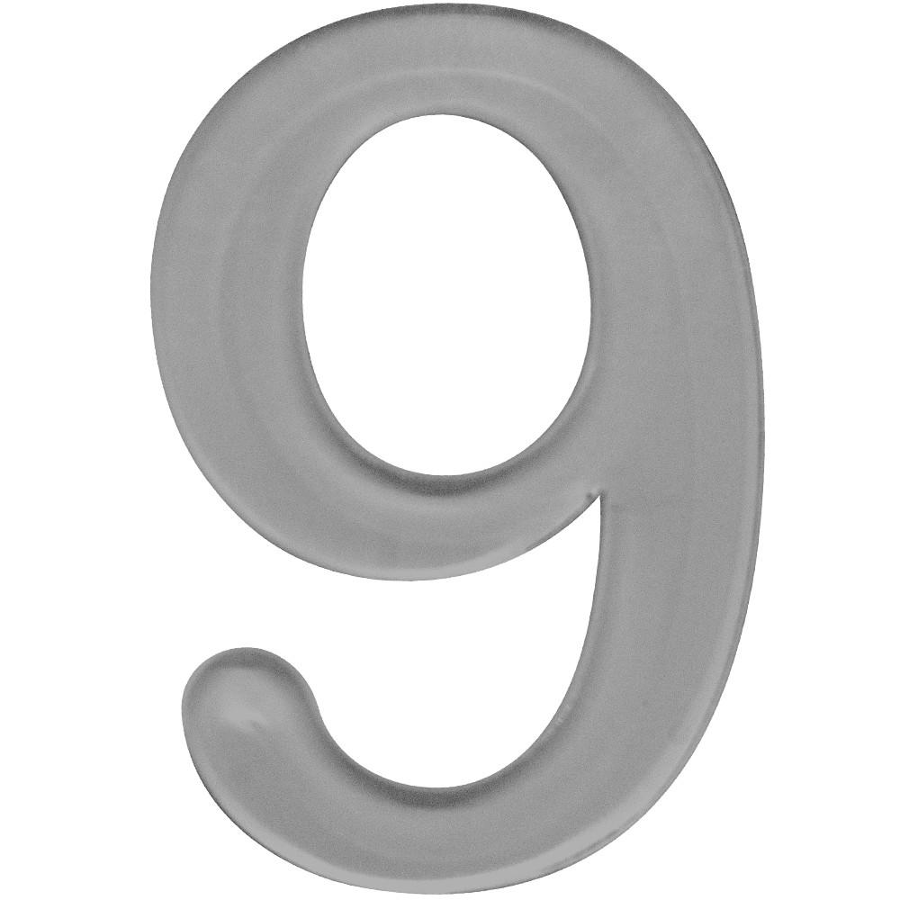 Numero 9 Acrilico Cinza - Acrilico Design