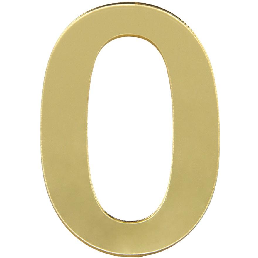 Numero 0 Acrilico Dourado - Acrilico Design