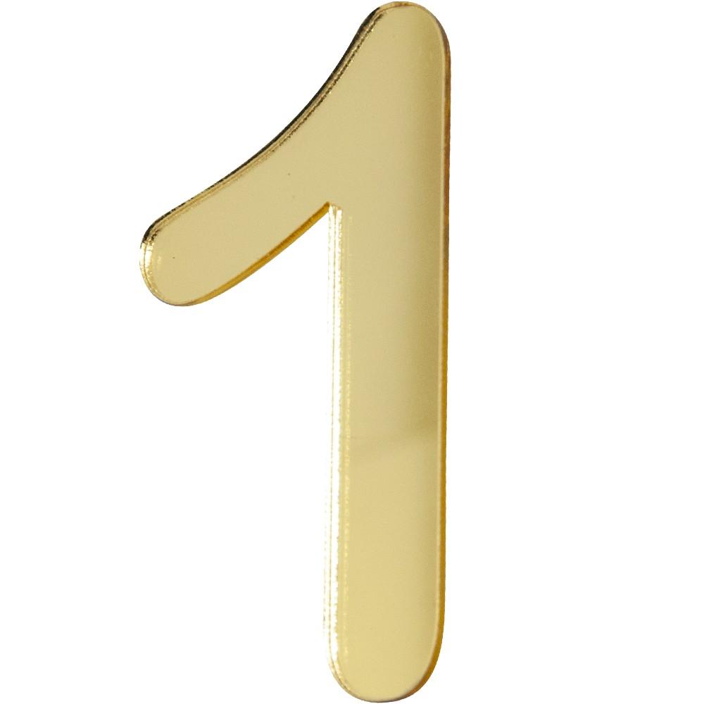Numero 1 Acrilico Dourado - Acrilico Design