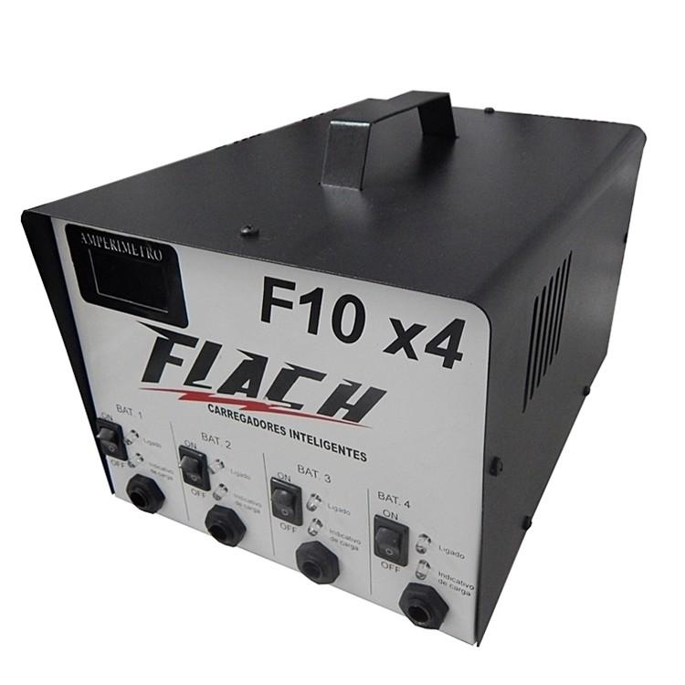 Carregador de Bateria Inteligente Bivolt 127220 10 A 12 V - F10X4 - Flach