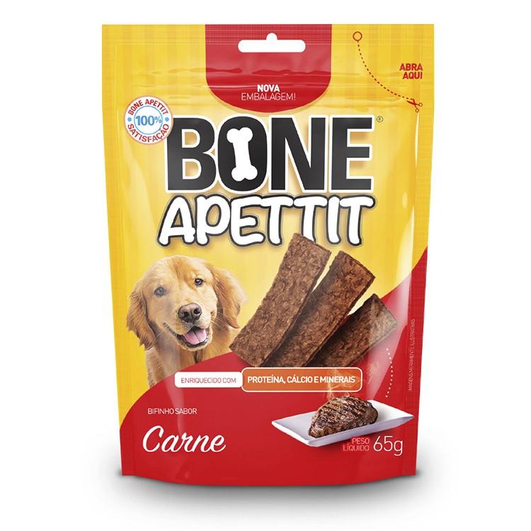 Bifinho PET Bone Apettit 65g Carne - 21116 - Atacapet