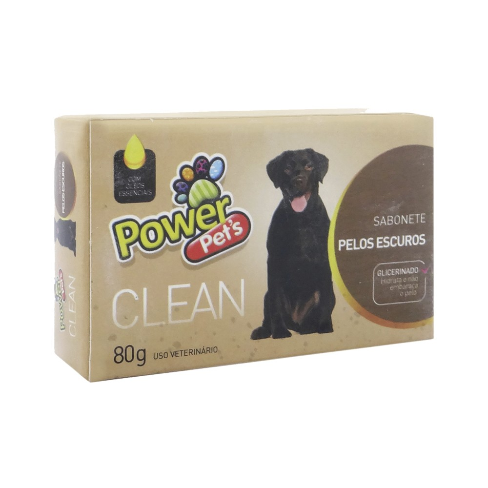 Sabonete em Barra para Pelos Escuros 80g - Power Pets