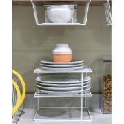 Organizador de Pratos para Cozinha Branco - DiCarlo
