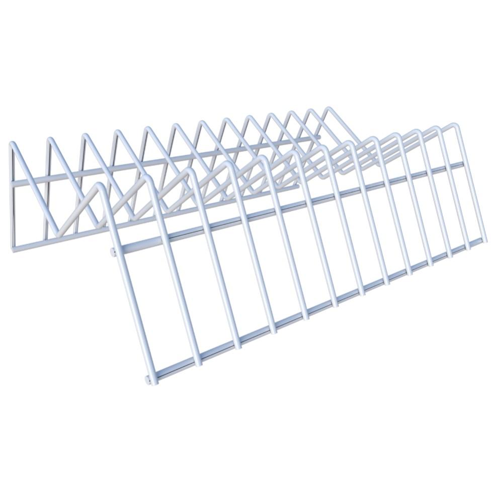 Organizador de Pratos Vertical para Cozinha Branco - Dicarlo
